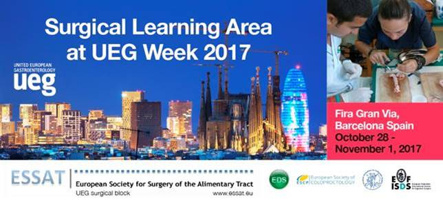 Register for the ESSAT Surgical Learning Area at UEG Week 2017